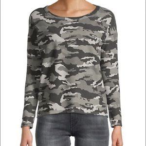 Chaser wide neck dolman Camo sweatshirt grey L